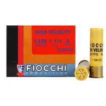 "Fiocchi Shooting Dynamics High Velocity, 20 GA, 3"" 1-1/4oz #8, Box of 25"