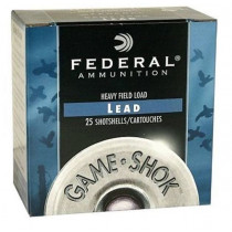 "Federal Game-Shok 20 GA, Hi-Brass 2-3/4"" #7.5 Lead, 1oz, Box of 25"