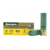 "Remington Premier Magnum Turkey Ammunition, 12 Gauge, 3-1/2"" High Velocity 2 oz #4 Copper Plated Shot, Box of 10"