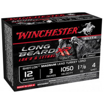 "Winchester STLB123M4 Long Beard XR 12GA 3"" 1-7/8oz #4 Shot, 10 Round Box"