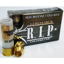 "G2 Research R.I.P Ammunition 12 Gauge 2-3/4"" 303 Grain Fragmenting Brass Slug, Box of 5"