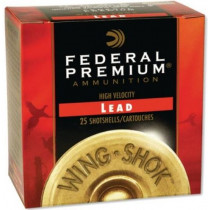 "Federal Wing-Shok Pheasants Forever 12 GA, 2-3/4"" Lead, Box of 25"
