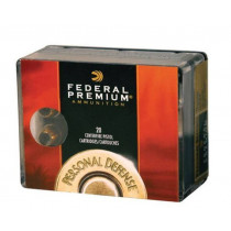 Federal Personal Defense .45 ACP, 165 GR Reduced Recoil Hydra-Shok JHP, Box of 20