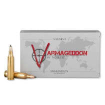 Nosler Varmageddon 22-250 Remington, 55 GR Flat Base Tip, Box of 20
