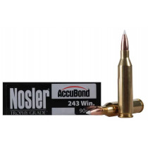 Nosler Custom 243 Win, 90 GR AccuBond, Box of 20
