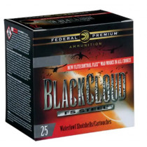 "Federal Premium Black Cloud Ammunition 12 Gauge 3"" 1-1/4 oz #1 Non-Toxic FlightStopper Steel Shot, 25 Round Box"