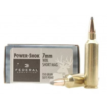 Federal Power-Shok 7mm Winchester Short Magnum (WSM) 150 Grain Soft Point, 20 Round Box