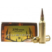 Federal Fusion 270 Winchester Short Magnum (WSM), 150 GR Bonded Spitzer Boat Tail, Box of 20