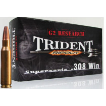 G2 Research RIP-OUT Trident 308 Winchester, 150 GR Expanding Solid Copper Lead-Free, Box of 20
