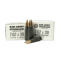 Red Army Standard 7.62x39 122 GR FMJ, 1000 RD CASE, NON-MAGNETIC BRASS JACKET