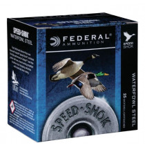 "Federal Speed Shok Waterfowl Steel 12 Gauge, 3"" BBB Steel Shot 1-1/4 oz 1450 fps, Box of 25"