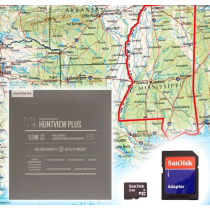 Garmin HuntView Plus Maps - Mississippi- Birdseye Satellite Imagery MicroSD Card