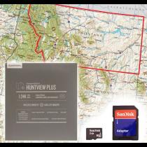 Garmin HuntView Plus Maps - Montana - Birdseye Satellite Imagery MicroSD Card
