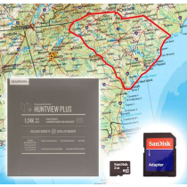Garmin HuntView Plus Maps - South Carolina- Birdseye Satellite Imagery MicroSD Card
