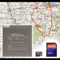 Garmin HuntView Plus Maps - Illinois - Birdseye Satellite Imagery MicroSD Card