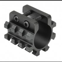 "NcStar 12 Gauge Shotgun Tri-Rail Weaver Style Mount for 1"" Mag Tube"