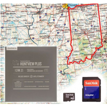 Garmin HuntView Plus Maps - Indiana - Birdseye Satellite Imagery MicroSD Card