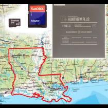 Garmin HuntView Plus Maps - Lousiana - Birdseye Satellite Imagery MicroSD Card