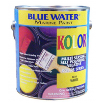 Blue Water Marine Paint, Kolor Bright, White, 1 Gallon
