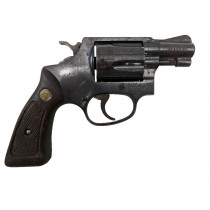 "Smith & Wesson Model 36 ""No Dash"", 2"" Blue Square Butt, 38 Special, *Fair*"
