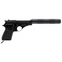 "Beretta 71, .22LR,9.25"" Barrel W/Faux Suppressor, Without Magazine, *Very Good, Incomplete*"