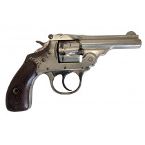 "Iver Johnson Topbreak, 32 S&W, 3"" Nickel, *Fair, Incomplete*"