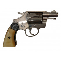 "Colt Cobra, 1st Model, 2"" Nickel, 38 Special, *Fair, Incomplete*"