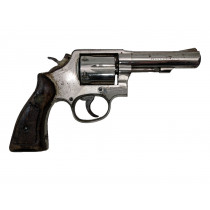 "Smith & Wesson Model 10-8, 4"" Nickel HB Square Butt, 38 Special, *Fair*"