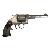 "Colt Police Positive, .38 Special, 5"" Barrel, Nickel, ""Poor, Incomplete"""