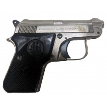 Beretta 950BS, .25 ACP, Nickel Finish, Without Magazine, *Good, Incomplete*