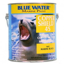 Blue Water Marine Paint, Copper Shield Hard, Marine Black, 1 Gallon