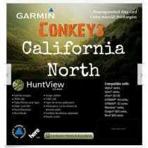 Garmin HuntView California North Birdseye Map / 24K TOPO and Land Boundaries