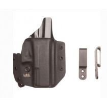 "L.A.G. Tactical Defender Series OWB/IWB Holster for Springfield XDS 3.3"" 9/45, Black, Right Hand"