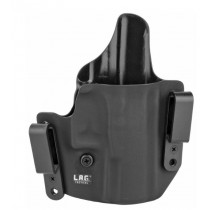 L.A.G. Tactical Defender Series OWB/IWB Holster for Walther PPQ, Black, Right Hand