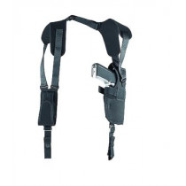 "Uncle Mikes Sidekick Vertical Shoulder Holster For 3.75-4.5"" Barrel Large Semi-Auto, Left Hand"