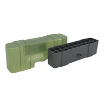 Plano Ammo Box, 20-Round Plastic Olive Drab and Clear Green