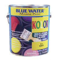 Blue Water Marine Paint Kolor Bright, White, 1 Quart