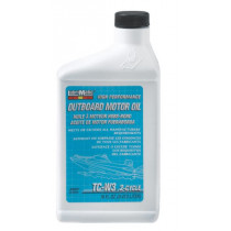 Lubrimatic Outboard 2-Cycle Motor Oil, TCW3, 16 OZ Bottle