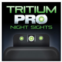 TruGlo Tritium Pro Night Sights Front Outline White/Rear Green For FNH, FNO-40, FNX-40, And FNS-40