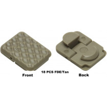 Keymod Rail Covers, FDE, 18 Pack