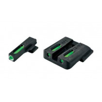 Truglo TFX Tritium/Fiber Optic Day/Night Sights, White Outline Front/Green Rear