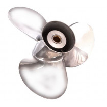 """Solas Propellers New Saturn 13""""D x 25""""P, Standard Rotation, 3-Blade Stainless Steel Boat Propeller"""