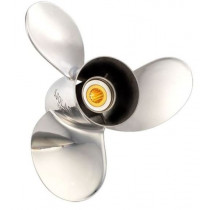 """Solas Propellers Titan Series 13-1/4""""D 19""""P, RH Roation, 3-Blade Stainless Steel Thru Hub Exhaust Propeller"""