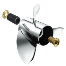 "Michigan Wheel Ballistic XHS Series 14-3/8""D x 21""P, RH Rotation, 3-Blade Stainless Steel Thru Hub Exhaust Propeller"