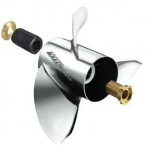 "Michigan Wheel Ballistic XHS Series 14-1/4""D x 25""P, RH Rotation, 3-Blade Stainless Steel Thru Hub Exhaust Propeller"