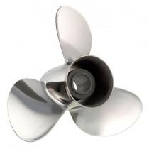 "Solas Rubex NS3 Series 14""D x 19""P, RH Rotation, 3-Blade Stainless Steel Thru Hub Exhaust Propeller"