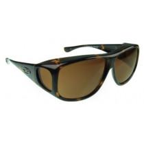 Fitovers Eyewear Aviator Sunglasses, Tortoiseshell, Polarvue Amber