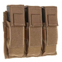 Tac Shield Triple Pistol Magazine Pouch W/Molle, Coyote