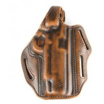 BlackHawk 3 Slot Leather Pancake Holster, Springfield XD/XDM 4in, Left Hand