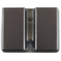 Uncle Mike's Kydex Double Mag Pouch 9mm/.40 Single-Stack Belt Slide Black